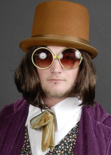 Lunettes rondes en or style Willy Wonka jWRsiw