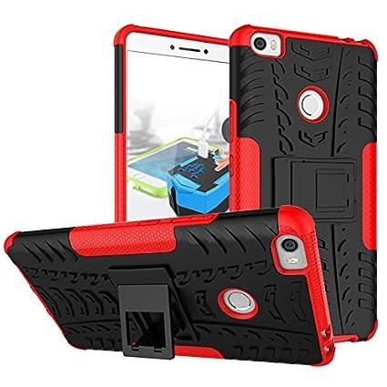 Xiaomi Mi Max Funda, adorehouse Hybrid TPU y PC Bumper Back Cover [diseño 2 en 1] Anti-Gota Anti-Choques Rígido Carcasas para Xiaomi Mi Max (Noir)