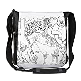 Black-and-white Animal In Africa Casual Unisex Messenger Handbag