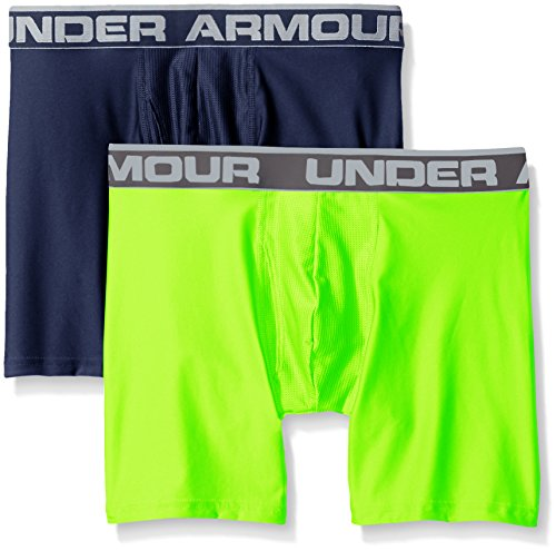 "Under Armour Men's Original Series 6"" Boxerjock 2-Pack, Midnight Navy/Hyper Green, XX-Large"