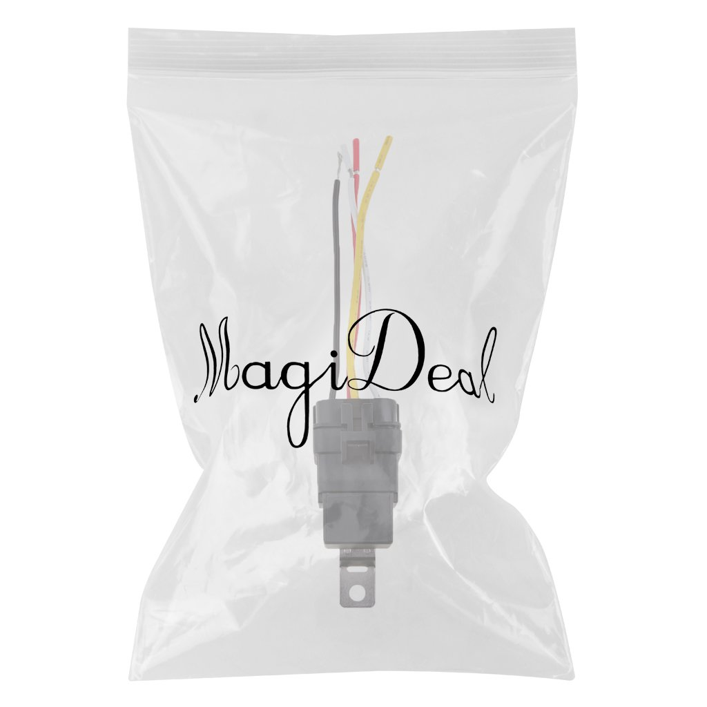 MagiDeal 12V 40A 4 Pin Waterproof Integrated Relay And Holder Electrical Connector
