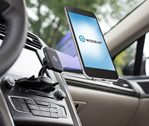 WizGear Cd Mount, CD Slot Magnetic Car Mount Holder Cell Phones Mini Tablets Fast Swift-Snap Technology, [Fits Most Car Cd Slots] by WizGear (Image #1)