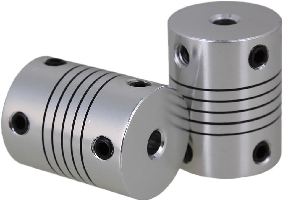 Winwill® 3/4/5/6/7/8 / 10mm Acoplamiento del eje de aluminio Conector del motor del acoplador flexible 1Pc