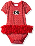 Two Feet Ahead NCAA Georgia Bulldogs Children Girls Pin Dot Tutu Creeper,18 mo,Red