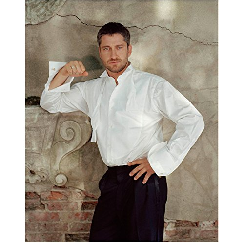 (Gerard Butler 8x10 Photo 300 How to Train Your Dragon P.S. I Love You White Dress Shirt Pose 1 kn)