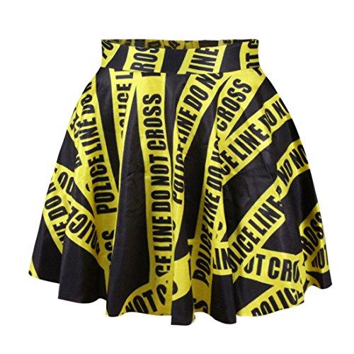 YICHUN mujeres Mini faldas fiesta falda playa falda Casual Pantalón corto mini vestido Print 4#