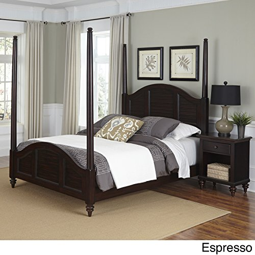 Home Styles Bermuda Poster Bed and Night Stand (Queen Finish Espresso Poster Bed)