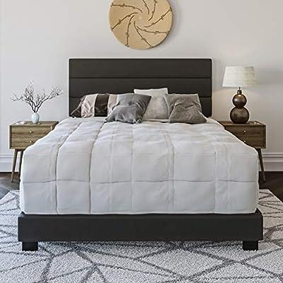 Boyd Sleep Montana Upholstered Platform Bed Frame with Headboard
