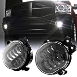 2019 New Version LED Passing Lamps Fog Lights For Dodge Ram 1500 2500/3500 2002 2003 2004 2005 2006 2007 2008 2009 Durango 2004-2006 Truck(Black)
