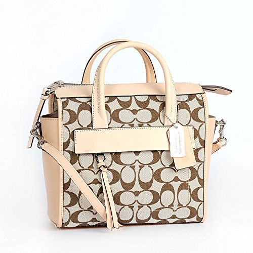 Coach Signature Riley Light vch Madeira Carryall 30168 Khaki Mini Bleecker EqOxwEI1r