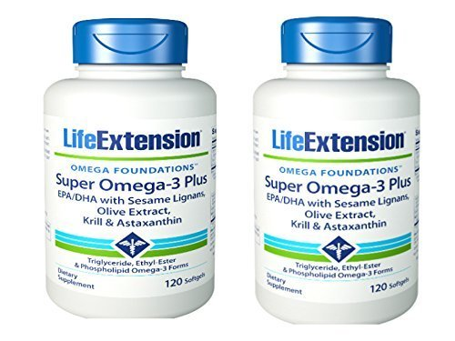 Omega-3 Plus EPA/DHA, Sesame Lignans, Olive Extract, Krill, Astaxanthin (3 Pack)