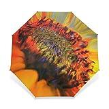 Yochoice Easy Carrying Folding Umbrella, Pretty Cool Sunflower,Compact Windproof Travel Rain Umbrella
