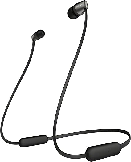 Sony WI C310 Ecouteurs intra auriculaires Bluetooth sans Fil Style Tour de Cou à Finition Métal Noir