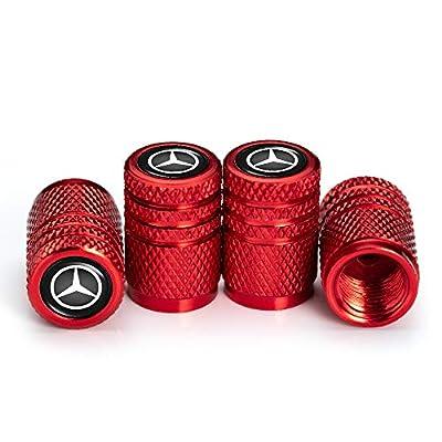 IJUSTBY 4 Pcs Metal Car Wheel Tire Valve Stem Caps for Mercedes Benz C E S M CLS CLK GLK GL A B AMG GLS GLE Logo Styling Decoration Accessories.: Automotive