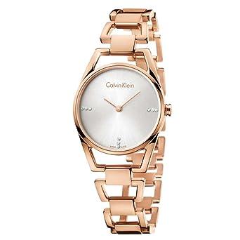 Calvin Klein Reloj Analogico para Mujer de Cuarzo con Correa en Acero Inoxidable K7L2364T: Amazon.es: Relojes