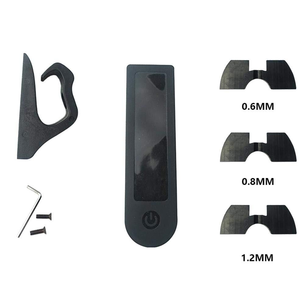 Never-hu para Xiaomi M365 Scooter el/éctrico Conjunto de Accesorios//Instrumento Funda de Silicona//Gancho de amortiguaci/ón//Soporte//Hoja de amortiguaci/ón