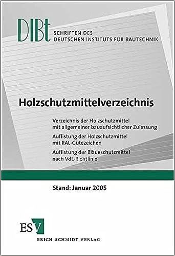 Holzschutzmittelverzeichnis Verzeichnis Der Holzschutzmittel Mit
