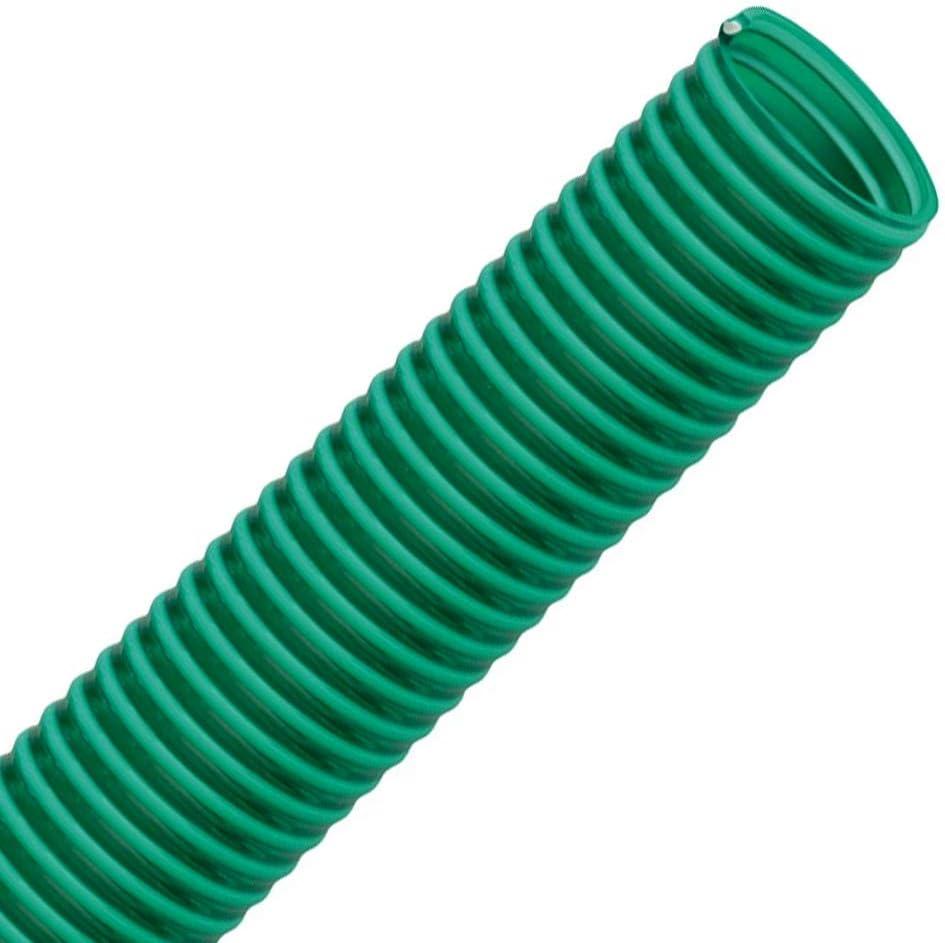 1 FLEXTUBE GR /Ø 25mm vert Longueur 20m Tuyau spirale en PVC comme tuyau daspiration et de refoulement transparent flexible poids moyen