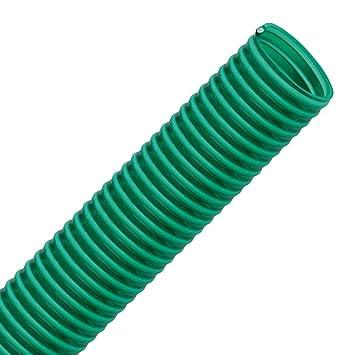 gr/ün transparent Spiralschlauch VALEKNA FLEXTUBE GR /Ø 35mm L/änge 10m PVC Schlauch Saugschlauch mit Hart PVC Spirale