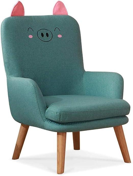 MWY Butaca Mini Sofa Muebles for Niños Respaldo Plegable Silla for Niños Marco De Madera Dibujos Animados Sillón for Niños Verde Los 45x47x72cm: Amazon.es: Hogar
