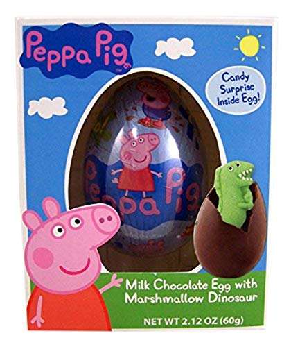 Peppa Pig Milk Chocolate Easter Egg with Marshmallow Dinosaur, 2.12 Ounce