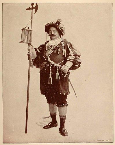 1893-chicago-worlds-fair-portrait-night-watchman-old-vienna-midway-plaisance-original-halftone-print