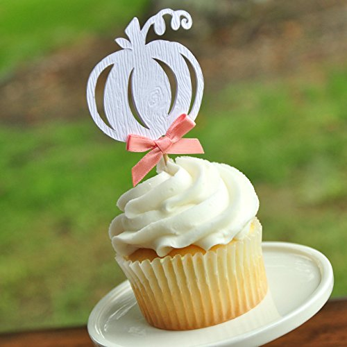 Pumpkin Woodgrain Cupcake Toppers. Fall Wedding Cupcake Toppers. Halloween Cupcake Toppers. Set of (Twelve Cupcakes Halloween)