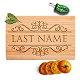 Personalized Name Cutting Board, Bamboo, Housewarming/Wedding Gifts Deal (Small Image)