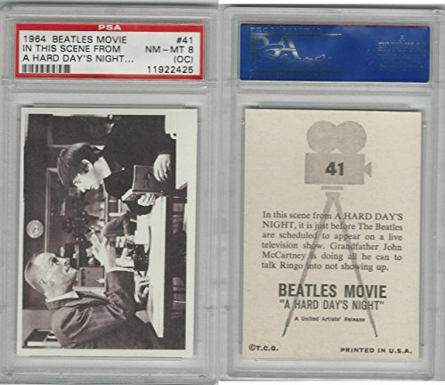 1964 Topps, Beatles Movie, 41 In This Scene From A, PSA 8 OC NMMT (The Oc Best Scenes)