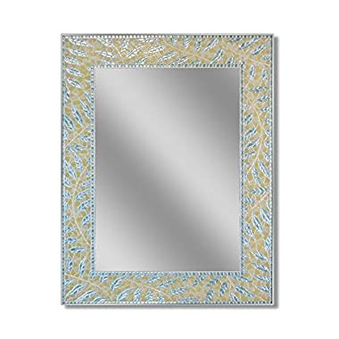 Head West Coastal Fern Mirror, 24 by 30-Inch
