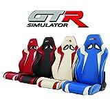 GTR Simulator - GTA-F Model Racing Simulator Triple or Single Monitor Stand with Adjustable Leatherette Seat, Racing Simulator Cockpit Gaming Chair Single Monitor Stand