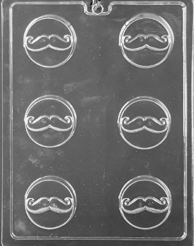 Grandmama's Goodies D116 Mustache Oreo Cookie Chocolate Candy Soap Mold with Exclusive Molding Instructions ()