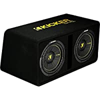 Kicker Dual 10-Inch 1200 Watt 2 Ohm Vented Loaded Subwoofer Enclosure, 44DCWC102