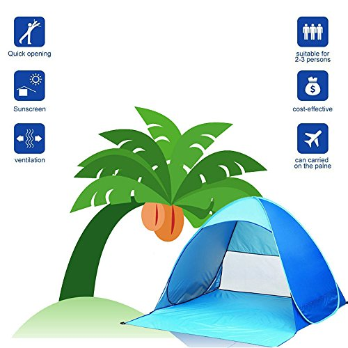 セクションこんにちは隔離Sumdreams Outdoor 2 Person Pop Up Cabana Beach Camping Tent Sun Shade Shelter Blue by Sumdreams