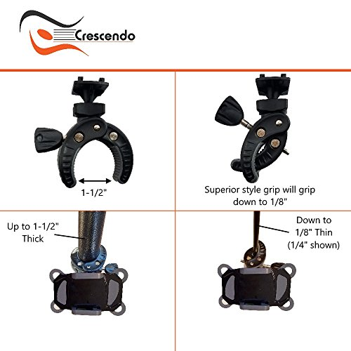 Crescendo CR-30 SlimClip Smart Phone Holder | Mount Clamp for Microphone Stand, Boom, Pole, Mic or Music Stand | Apple iPhone, Samsung Galaxy or Note, Google Pixel, LG, HTC, Moto, OnePlus by Crescendo (Image #5)