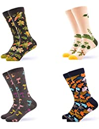 Women's Funny Casual Combed Cotton Socks Packs