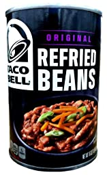 Taco Bell ORIGINAL REFRIED BEANS 16oz (6 Pack)
