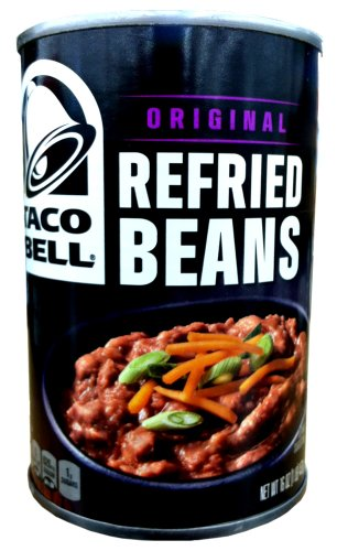 Taco Bell ORIGINAL REFRIED BEANS 16oz (6 Pack) by Taco Bell