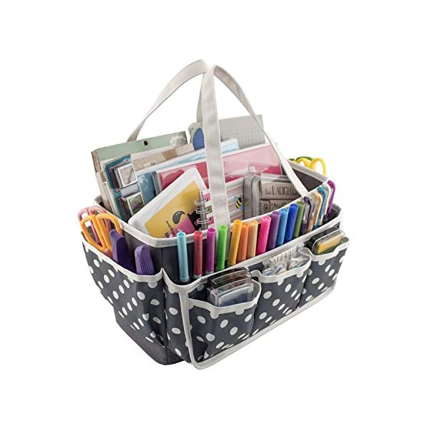 Everything Mary Large Open Craft Caddy – Storage Craft Bag Organizer for Crafts,...