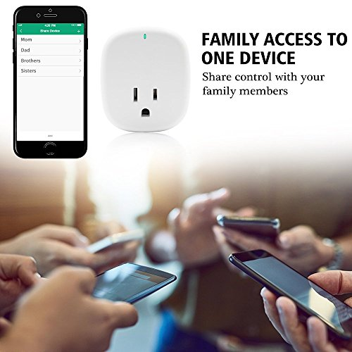 WiFi Smart Plug, Smart Outlets ,Smart Socket No Hub Required,Works with Amazon Alexa Echo and Google Home Assistant IFTTT, Controls Your Devices from Anywhere,with 5V 1A USB Charging Port ( 1-Pack) by Pilence (Image #5)