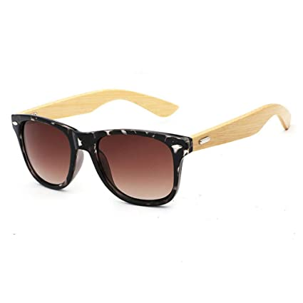 332330d3e0 Pausseo Bamboo Frame Sunglasses Wooden Mens Womens Retro Vintage Eyewear  Running Cycling Fishing Driving Safety Softball