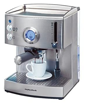 Morphy Richards 47507 Máquina espresso Plata - Cafetera (Máquina espresso, Plata): Amazon.es: Hogar