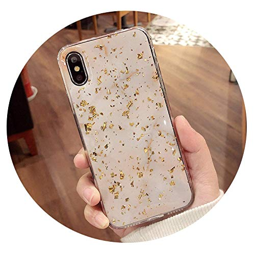 Bling Marble Phone Cases for iPhone X 10 Cover Soft TPU for iPhone XR XS MAX 7 8 6 6s Plus Glitter Case,Black,for IP XS 5.8 inch,White,ForiPhone7Plus ()