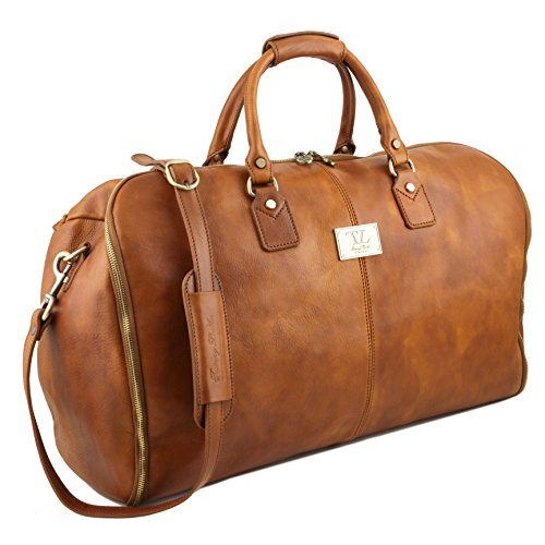 81415384 - TUSCANY LEATHER: ANTIGUA - Sac de voyage / Housse de transport vêtments en cuir, marron foncé