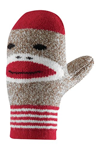 Fox River Kids Red Heel Merino Wool Monkey Mittens, Brown Heather, Large - Kid Merino Yarn