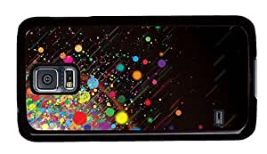 Hipster Samsung Galaxy S5 Case custom made color dots explosion PC Black for Samsung S5 by ruishername