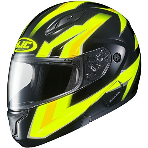 HJC CL-MAX 2 Ridge Modular Motorcycle Helmet Hi-Vis Yellow/Black ()