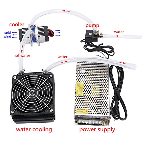 DIY 144W Dual-chip Thermoelectric Peltier Refrigeration TEC1-12706 Cooler with Water Cooling System (Single Cooler) by Walfront (Image #5)