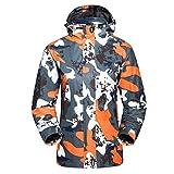 Zhhlinyuan Camouflage Softshell Fleece Rain Jacket Windproof Waterproof Outerwear