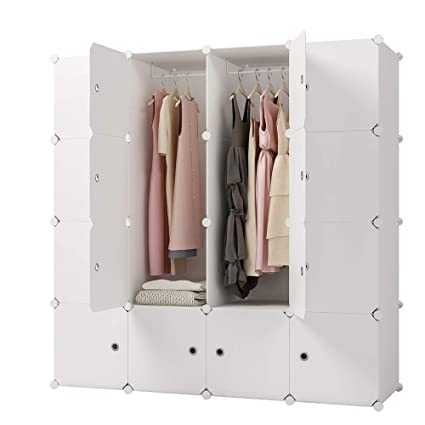online retailer 44f8a d9cf3 KOUSI Portable Clothes Closet Clothing Storage Plastic Dresser Shelves  Armoire Wardrobe Moving Boxes Rack Bins Shelf Closet for Bedroom Organizers  and ...